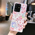 For Galaxy S20 Ultra Colorful Laser Flower Series IMD TPU Mobile Phone Case(Lyre Coral   KL4)