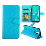 For OPPO A9 (2020) / A5 (2020) Crazy Horse Texture Leather Horizontal Flip Protective Case with Holder & Card Slots & Wallet & Photo Frame(Baby Blue)