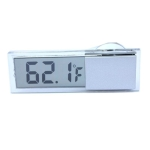 Sucker Type Car Electronic Digital Display Transparent Thermometer