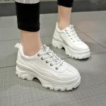 Women Shoes Platform Sneakers, Size:39(White)