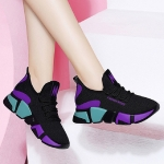 Women Shoes Wild Cloth Sneakers, Size:40(Purple)