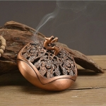 Creative Longfeng Retro Copper Alloy Incense Burner Room Home Decoration Aromatherapy Furnace(Red Copper)
