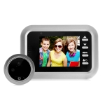 W8-S 2.4 inch Screen 2.0MP Security Camera No Disturb Peephole Viewer, Support TF Card (Silver)