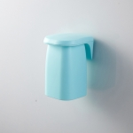 Brushing Cup Set Magnetic Suction Mouthwash Cup Wall-mounted Shelf Cup Holder (Blue)