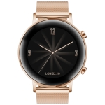 HUAWEI WATCH GT 2 42mm Metal Wristband Bluetooth Fitness Tracker Smart Watch, Kirin A1 Chip, Support Heart Rate & Pressure Monitoring / Sports Recording / Bluetooth Music / GPS(Gold)