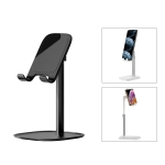ROCK RPH0944 Adjustable Lifting 90 Degree Rotation ABS Stand Desktop Phone Tablet Holder(Black)