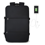 S32 Multi-Function Large Capacity Travel Casual Backpack Laptop Computer Bag with External USB Charging Interface, Size: 50x31x19cm (Black)
