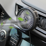 F203A Portable Car Air Outlet Electric Cooling Fan