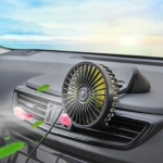 F402 Portable Car Center Console Sucker Electric Cooling Fan with Aromatherapy