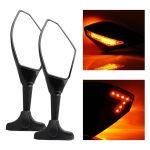 Motorcycle Modified Rear View Mirror Set with Light for Kawasaki