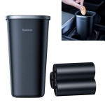 Baseus CRLJT-A01 PC Dust-free Vehicle-mounted Trash Can with 90 Garbage Bags, Capacity: 800ml(Black)