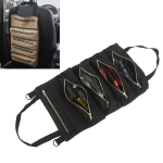 Car Auto Multi-function Canvas Storage Bag Portable Tool Bag Hanging Pocket Bag (Black)