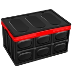 Car Storage Box Auto Multi-function Folding Organizer Box, with Waterproof Bag, Size: L (Black)