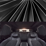 2 PCS Car Auto Sunshade Curtains Windshield Cover for the Rear Seat (Black)