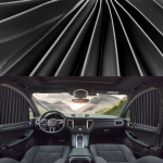 2 PCS Car Auto Sunshade Curtains Windshield Cover for the Front Seat (Black)