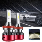 2 PCS I5 H11 DC9-30V 26W 6000K 2400LM IP67 Car High Bright LED Headlight Lamps