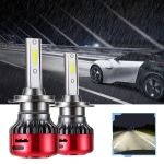 2 PCS I5 H7 DC9-30V 26W 6000K 2400LM IP67 Car High Bright LED Headlight Lamps