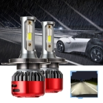 2 PCS I5 H4 DC9-30V 26W 6000K 2400LM IP67 Car High Bright LED Headlight Lamps