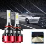 2 PCS I5 9006 DC9-30V 26W 6000K 2400LM IP67 Car High Bright LED Headlight Lamps