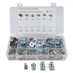 200 PCS B Nut Kit Spire Clips Zinc Speed Fasteners Lug Nuts
