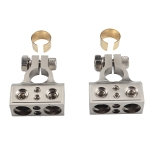2 PCS Positive and Negative Car Metal Battery Connectors Terminals Clamps Clips with Kits