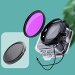 RUIGPRO for GoPro HERO8 Professional 58mm Color Dive Housing Lens Filter with Filter Adapter Ring & Lens Cap(Purple)