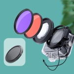 RUIGPRO for GoPro HERO8 Professional 58mm 16X Macro Lens + Red/Purple Diving Lens Dive Housing Filter Kits with Filter Adapter Ring & Lens Cap