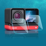 Lens + LCD Display Tempered Glass Film for Insta 360 One R 4K (Transparent)