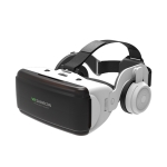 VR SHINECON G06E Virtual Reality 3D Video Glasses Suitable for 4.7 inch – 6.1 inch Smartphone with Headset (White)