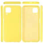 For Huawei Nova 6 SE Solid Color Liquid Silicone Dropproof Protective Case(Yellow)