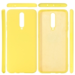 For Xiaomi Redmi K30 Solid Color Liquid Silicone Dropproof Protective Case(Yellow)