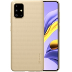 For Galaxy A71 NILLKIN Frosted Concave-convex Texture PC Case(Gold)