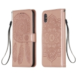 For iPhone XS Max Dream Catcher Printing Horizontal Flip Leather Case with Holder & Card Slots & Wallet & Lanyard(Rose Gold)
