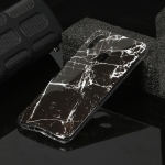 For Galaxy A11 Marble Pattern Soft TPU Protective Case(Black)