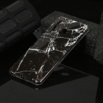For Galaxy A21 Marble Pattern Soft TPU Protective Case(Black)