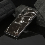 For Galaxy A41 Marble Pattern Soft TPU Protective Case(Black)