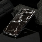For Galaxy A70e Marble Pattern Soft TPU Protective Case(Black)