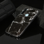 For Xiaomi Redmi Note 8 Marble Pattern Soft TPU Protective Case(Black)