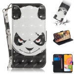 For Galaxy A01 3D Painting Horizontal Flip Leather Case with Holder & Card Slot & Wallet & Lanyard(Angry bear)