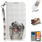 For Galaxy A01 3D Painting Horizontal Flip Leather Case with Holder & Card Slot & Wallet & Lanyard(Pug)