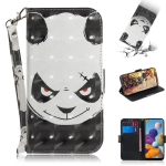 For Galaxy A21 3D Painting Horizontal Flip Leather Case with Holder & Card Slot & Wallet & Lanyard(Angry bear)