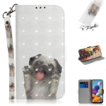 For Galaxy A21 3D Painting Horizontal Flip Leather Case with Holder & Card Slot & Wallet & Lanyard(Pug)