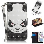 For Galaxy A70e 3D Painting Horizontal Flip Leather Case with Holder & Card Slot & Wallet & Lanyard(Angry bear)