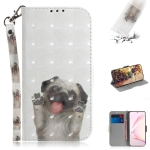 For Galaxy Note 10 Lite / A81 3D Painting Horizontal Flip Leather Case with Holder & Card Slot & Wallet & Lanyard(Pug)
