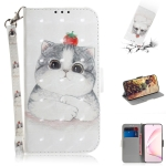 For Galaxy S10 Lite / A91 3D Painting Horizontal Flip Leather Case with Holder & Card Slot & Wallet & Lanyard(Cute cat)
