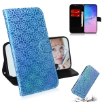 For Galaxy S10 Lite / A91 Solid Color Colorful Magnetic Buckle Horizontal Flip PU Leather Case with Holder & Card Slots & Wallet & Lanyard(Blue)