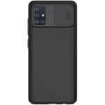 For Galaxy A51 NILLKIN Black Mirror Series PC Camshield Full Coverage Dust-proof Scratch Resistant Mobile Phone Case(Black)