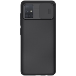 For Galaxy A71 NILLKIN Black Mirror Series PC Camshield Full Coverage Dust-proof Scratch Resistant Mobile Phone Case(Black)