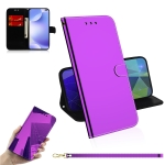 For Xiaomi Redmi K30 Lmitated Mirror Surface Horizontal Flip Leather Case with Holder & Card Slots & Wallet & Lanyard(Purple)