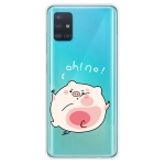 For Galaxy A51 Lucency Painted TPU Protective(Hit The Face Pig)